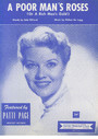 A Poor Man's Roses (or a Rich Man's Gold) - performed by Patsy Cline and many other artists, Popular Standard, Single Songbook