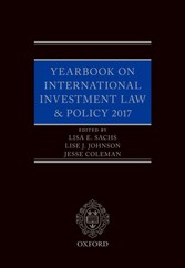 Yearbook on International Investment Law & Policy 2017